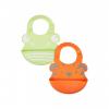 Нагрудники силиконовые, 2 шт., зеленый и оранжевый Mothercare 2628095