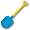 Лопата двухцветная Zebratoys, 66 см, синяя 10018017