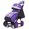 Санки-коляска Galaxy Snow City-1-1 Серый Зайка колеса надувные