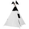 VamVigvam Вигвам Black&White с окном и карманом vv010306