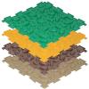 Модульный коврик Ортодон Шишки (мягкий) ( ID 8659324 )