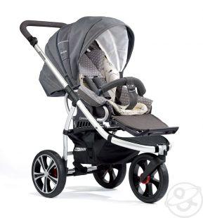 Купить прогулочная коляска gesslein f3 air+ (серебристая рама), цвет: серый ( id 7546087 )