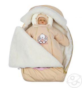 Купить комплект на выписку непоседа babyglory, цвет: бежевый шапка/комбинезон/конверт ( id 9972012 )