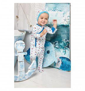Купить ползунки lucky child крабики, цвет: бежевый/синий ( id 7247953 )