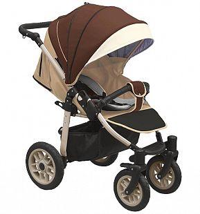 Купить прогулочная коляска camarelo eos, цвет: коричневый/бежевый ( id 9608559 )