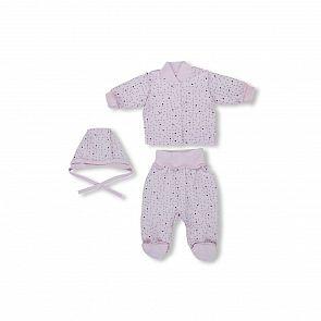 Купить комплект бисер leo, цвет: розовый кофта/ползунки/чепчик ( id 11199098 )
