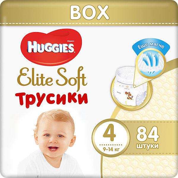 Купить трусики-подгузники huggies elite soft 4, 9-14 кг, 84 шт. ( id 7464173 )