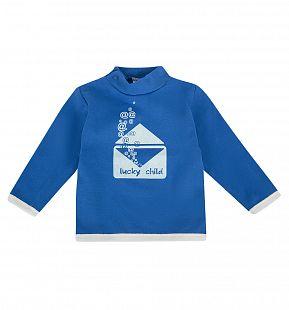 Купить джемпер lucky child, цвет: белый/синий ( id 1148309 )