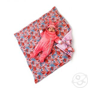 Купить комплект на выписку саккура slingme, цвет: розовый комбинезон/одеяло/шапка/снуд/бант 90 х 90 см ( id 12797542 )